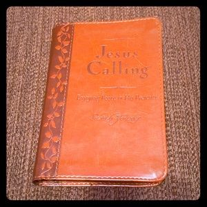 Jesus calling pocket sized leather cover